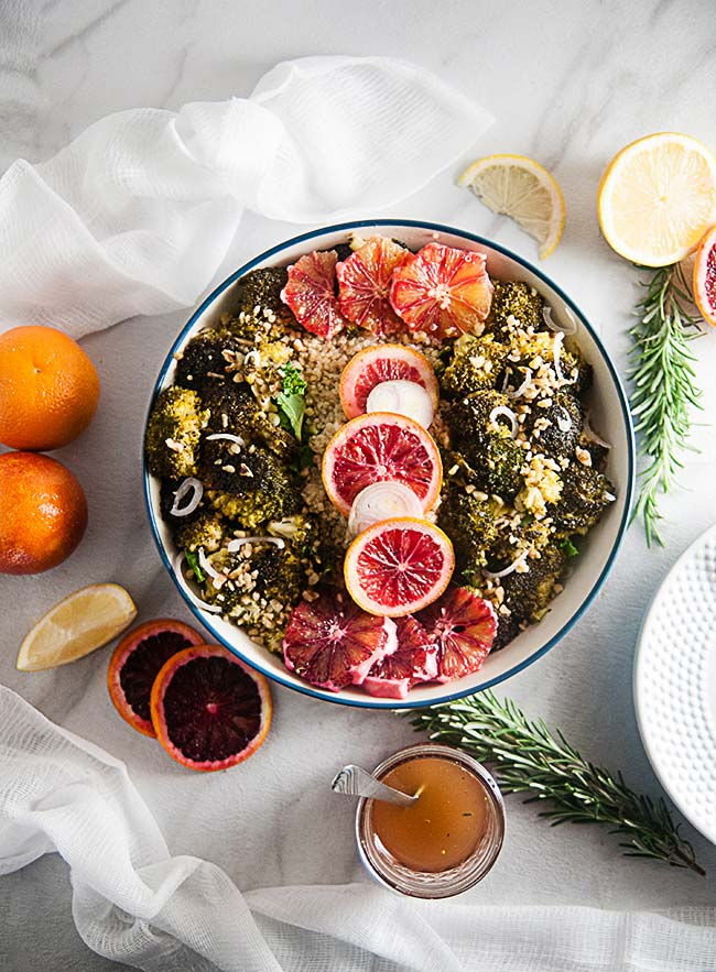 Winter Citrus Salad with Blood Oranges and Broccoli