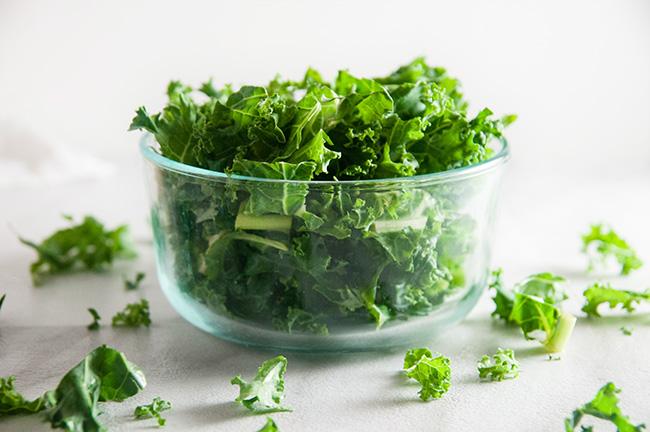 A crisp bowl of kale