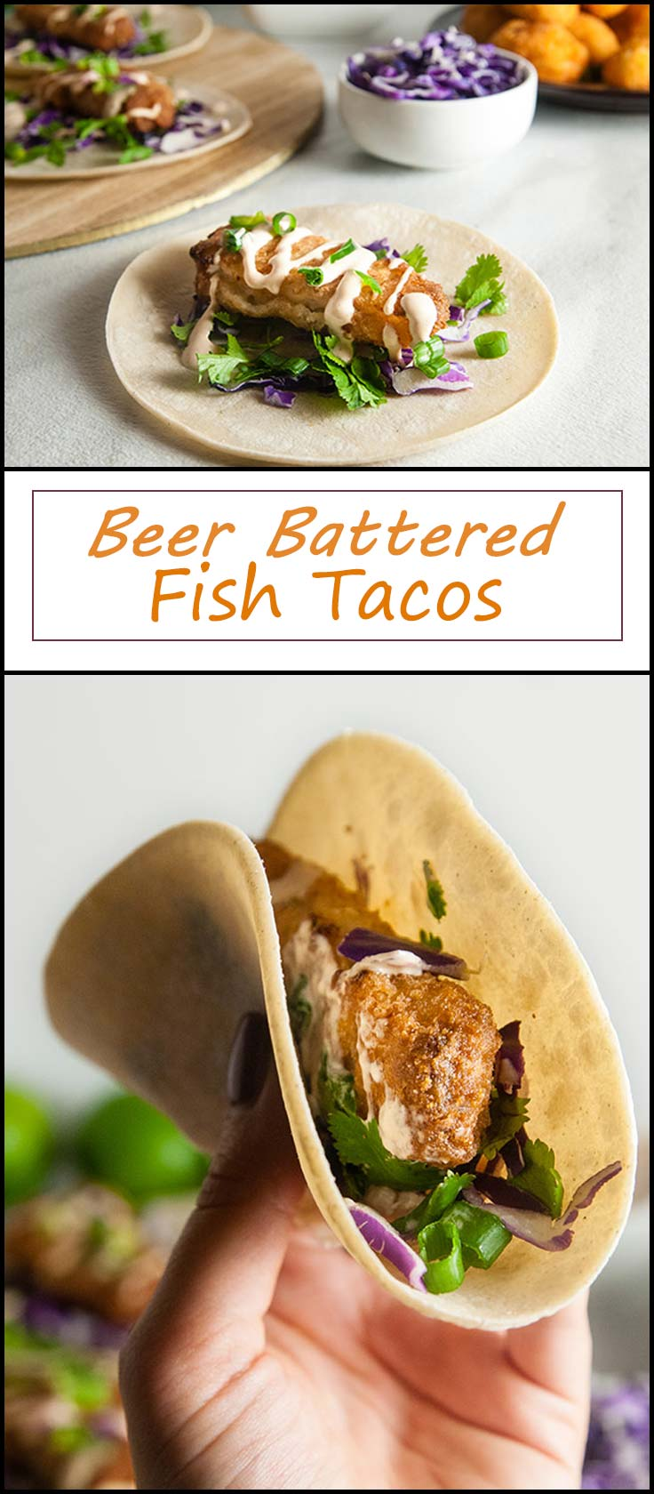 Perfect for busy weeknight dinners Quick and Easy Beer Battered Fish Tacos with Chipotle Lime Crema from www.seasonedsprinkles.com