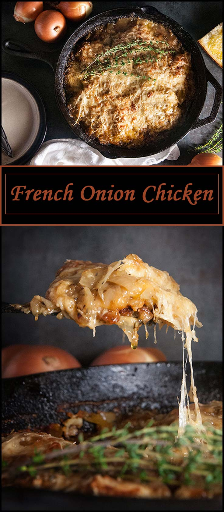 The perfect dinner party recipe French Onion Chicken from www.seasonedsprinkles.com