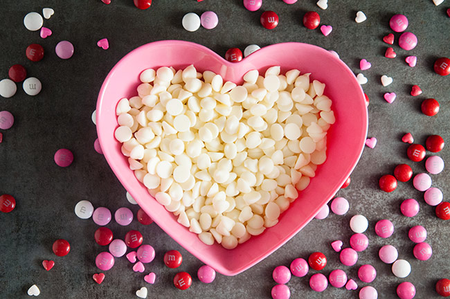 Ingredients for Cute Homemade Chocolate Hearts