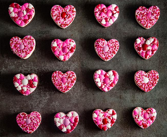 Homemade Chocolate Hearts