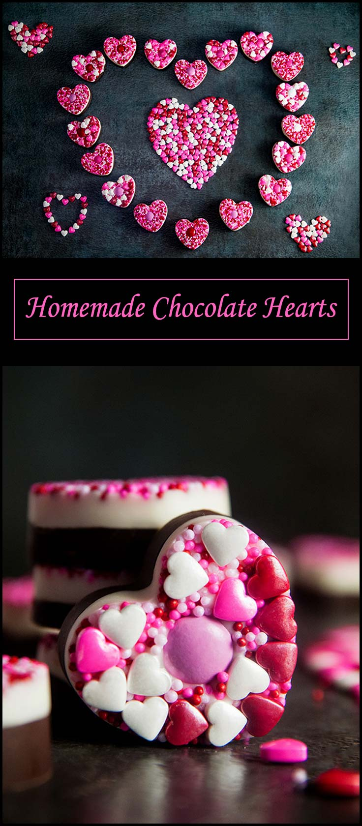 Homemade Chocolate Hearts from www.seasonedsprinkles.com