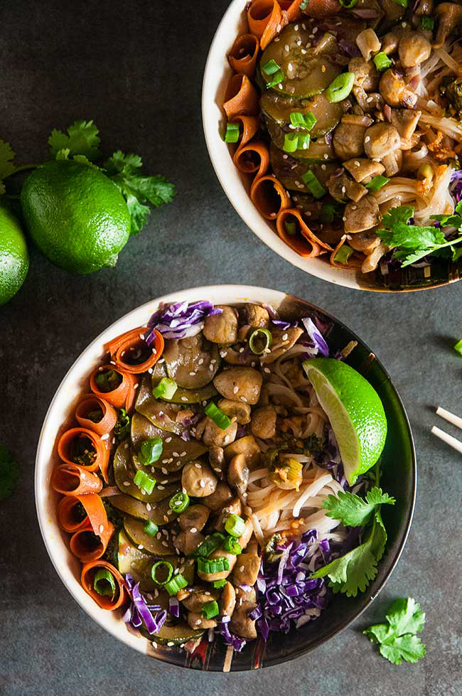 Korean Vegetable Noodle Bowls