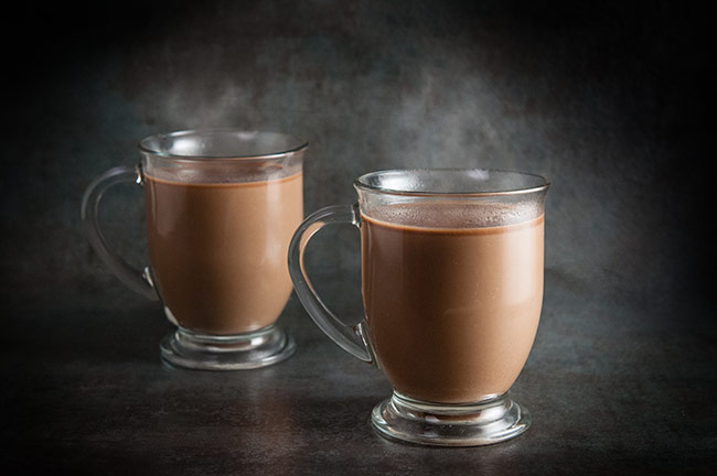 Steaming cups of Nutella Hot Coffee