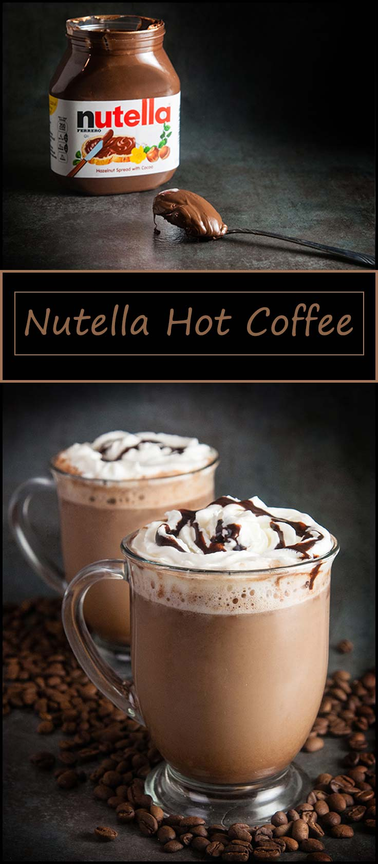 Nutella hot coffee from www.seasonedsprinkles.com