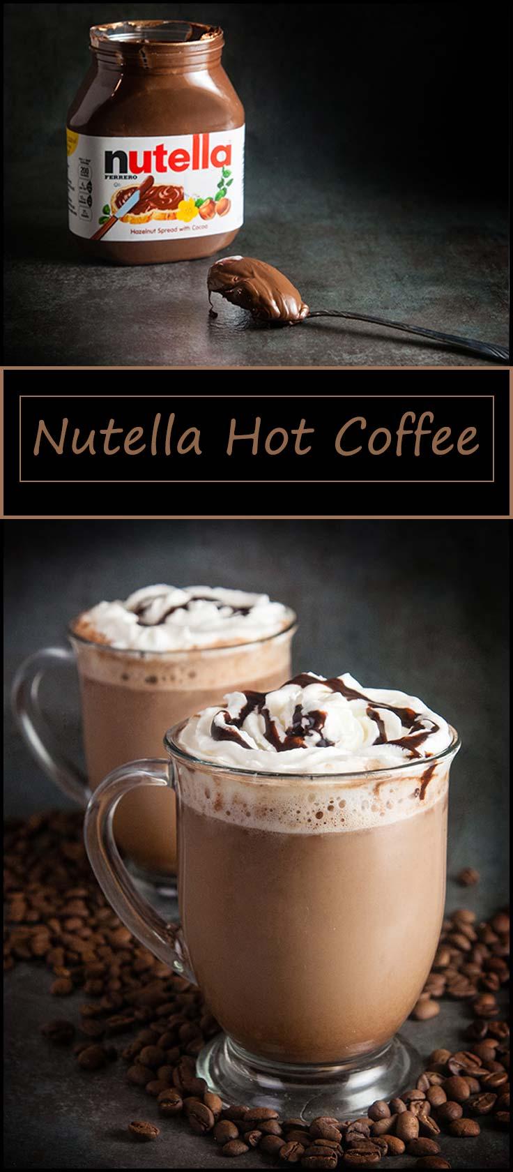 Nutella hot coffee from www.seasonedsprinkles.com