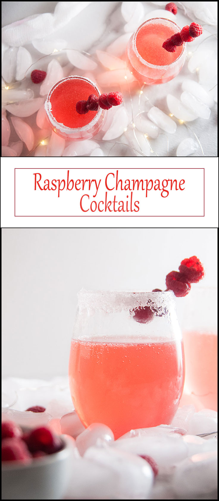 Raspberry Champagne Cocktails from www.seasonedsprinkles.com