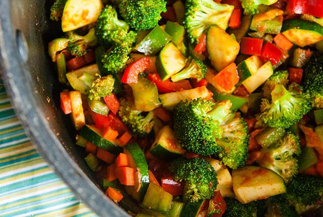 Pot of vegetables