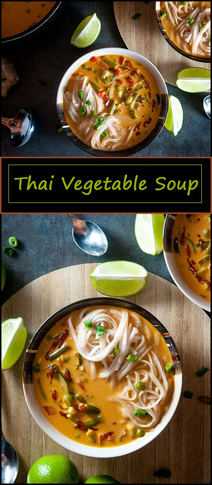 Easy vegetarian and vegan friendly spicy Thai vegetable soup. Gluten free. from www.seasonedsprinkles.com