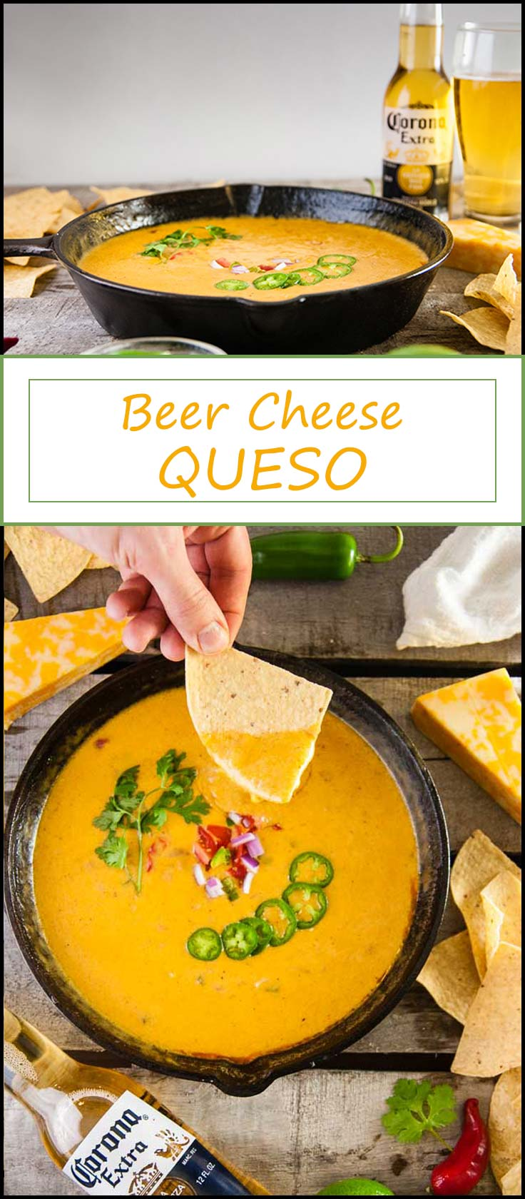 Easy recipe for beer cheese queso perfect for Cinco de Mayo, tailgating, or entertaining from www.seasonedsprinkles.com