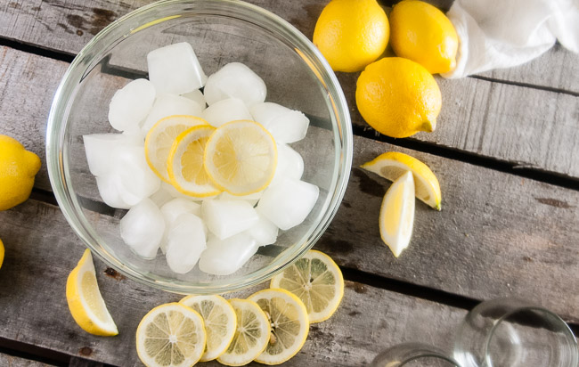 Frozen Lemonade Ice Cubes