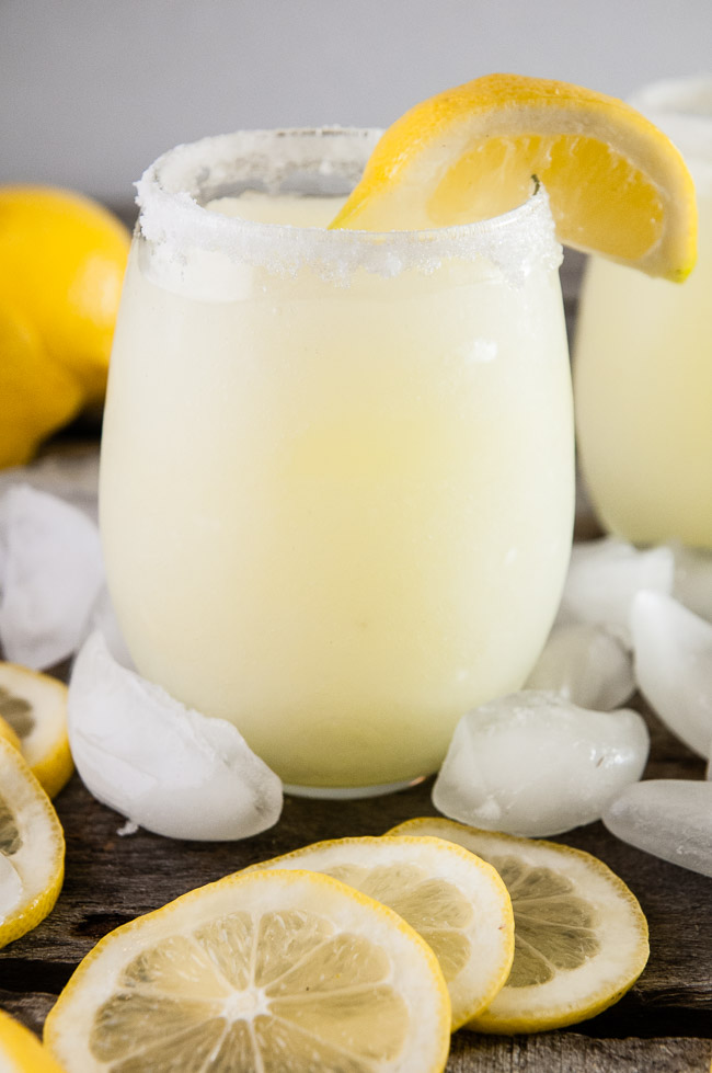 Boozy Lemonade Slushies