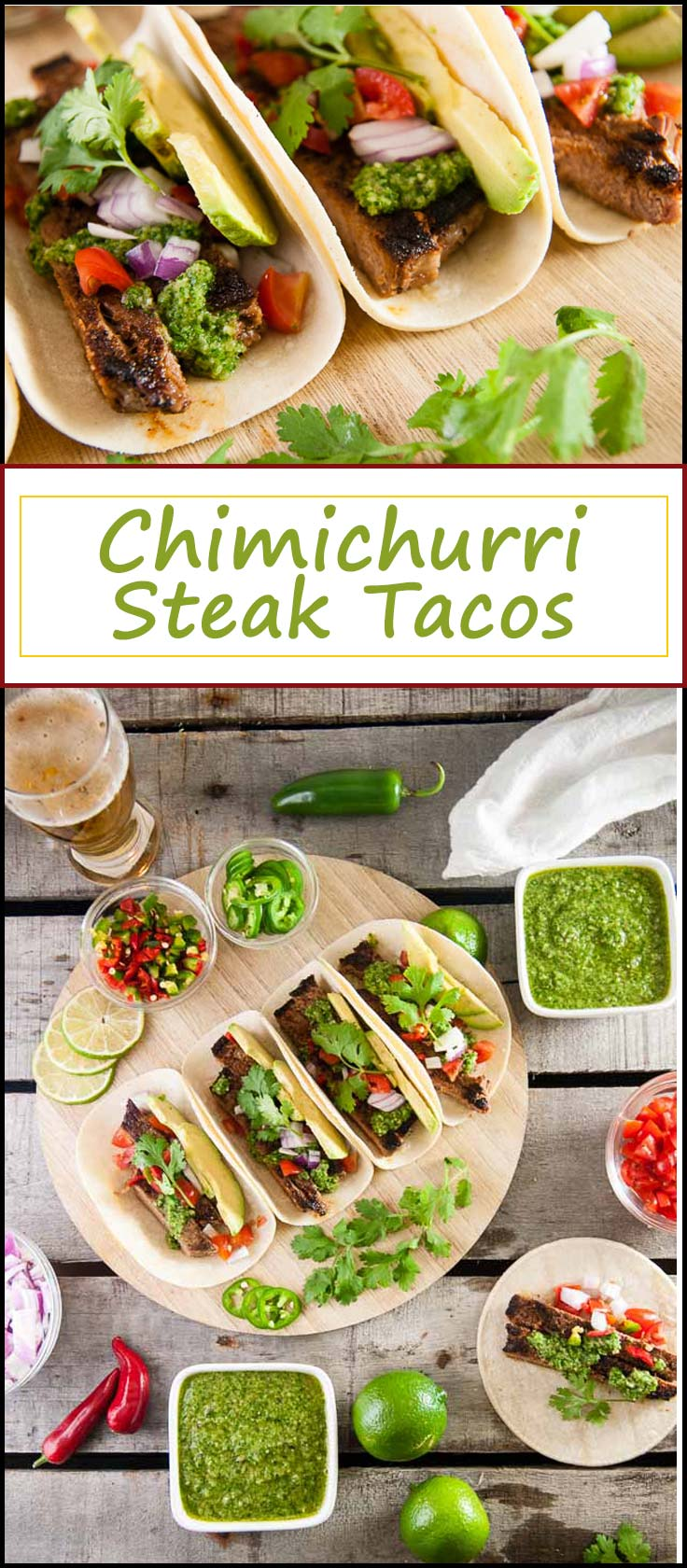 Chimichurri Steak Tacos are a bold taco recipe perfect for dinner on taco Tuesday from www.seasonedsprinkles.com