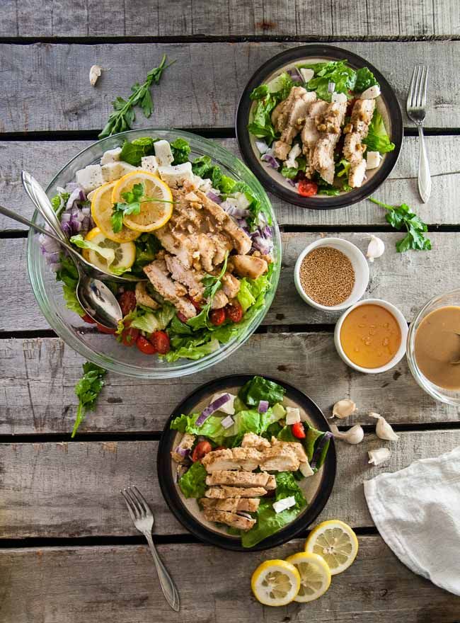 Honey Mustard Chicken Chopped Salad
