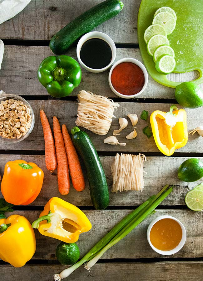 Ingredients for Thai Chili Lime Noodles