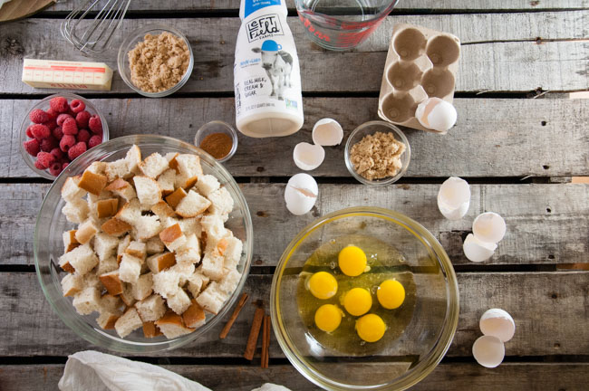 Ingredients for Easy Baked French Toast Casserole
