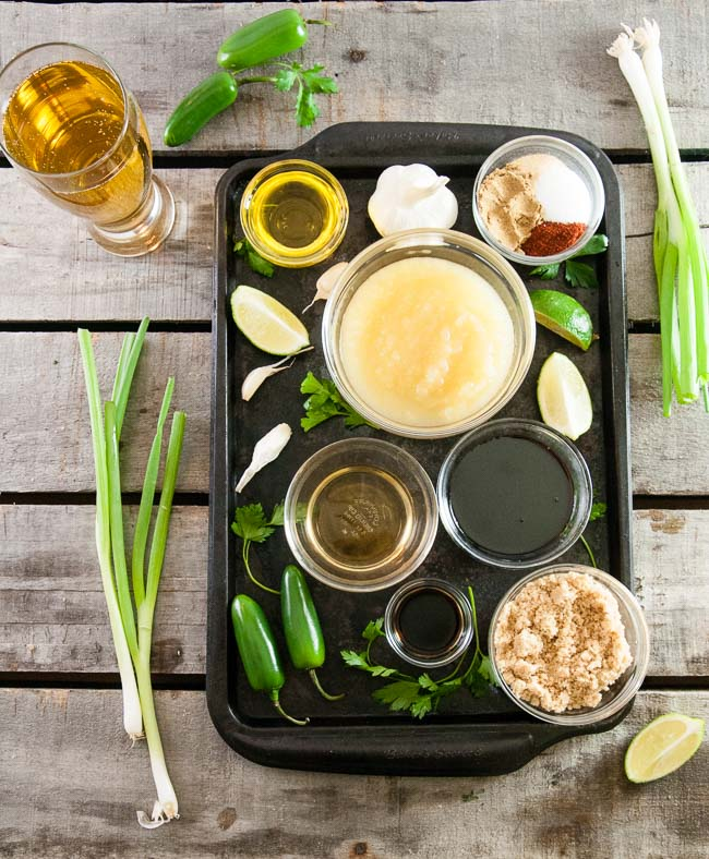 Ingredients for Beer Barbecue Sauce