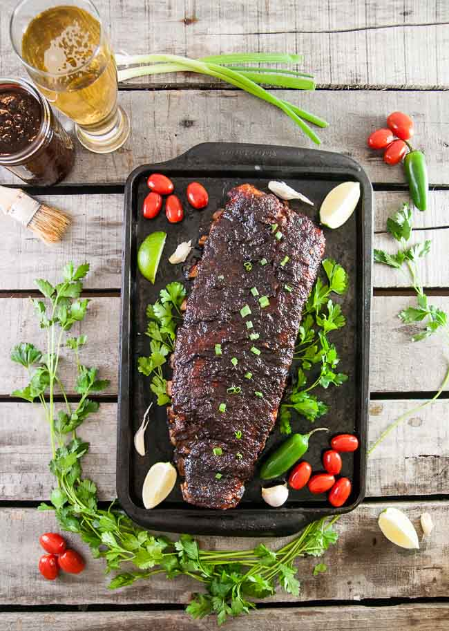 Slow Roasted Beer Barbecue Ribs