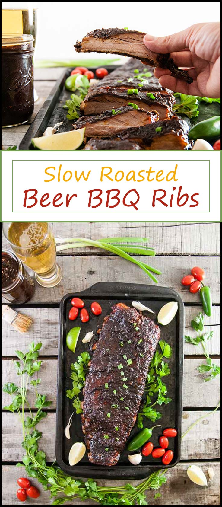 Slow Roasted Beer Barbecue Ribs are the perfect summer barbecue recipe when you don't feel like grilling from www.seasonedsprinkles.com