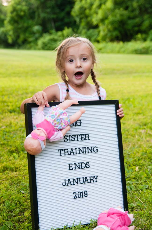 Twin baby pregnancy announcement