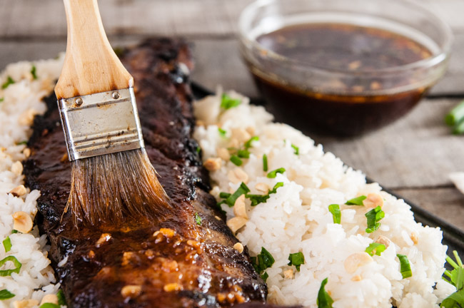 Thai Pork Ribs with Coconut Rice