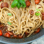 Buttered Balsamic Blistered Tomato Pasta