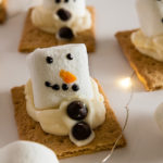 Cute little melted snowmen s'mores