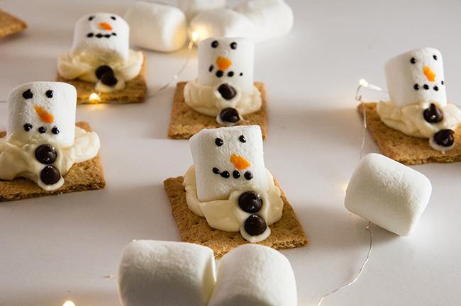 Melting Snowmen S'mores
