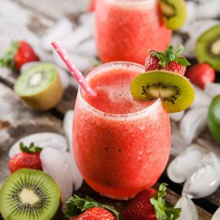 Sparkling Strawberry Kiwi Slushies