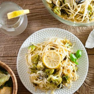 Roasted Broccoli and Brussel Sprouts Pasta