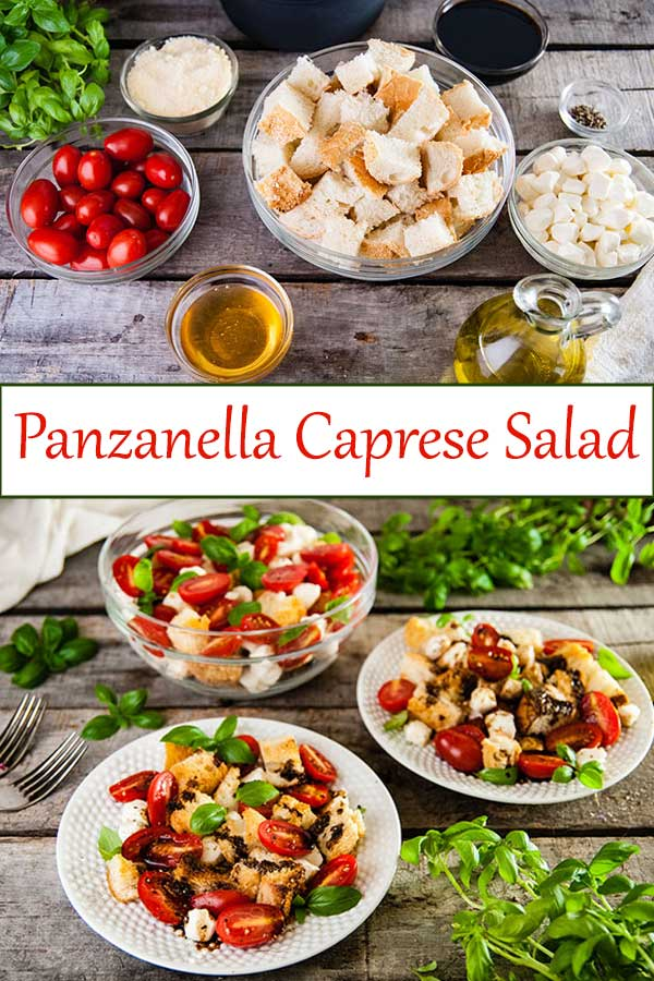 The perfect easy summer dinner salad Panzanella Caprese Salad from www.seasonedsprinkles.com