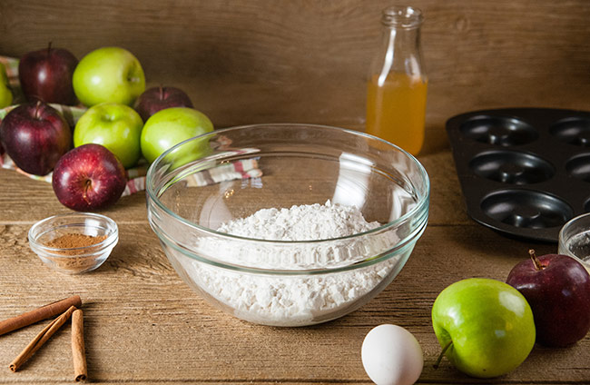 Ingredients for Easy Apple Cider Donuts