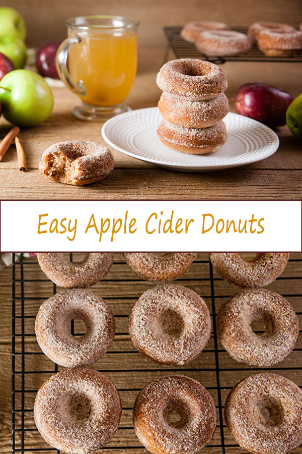 Easy Apple Cider Donuts are the perfect fall treat. Semi homemade but delicious donuts from www.SeasonedSprinkles.com