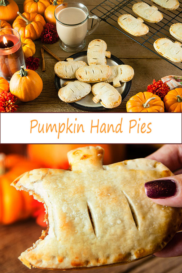 These mini pumpkin hand pies are a fun, handheld take on pumpkin pie that's perfect for Halloween, Thanksgiving, and other fall occasions where you need a delicious fall dessert from www.SeasonedSprinkles.com