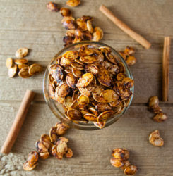 Sweet and Spicy Roasted Pumpkin Seeds