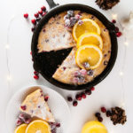 Cranberry Orange Baked Pancake