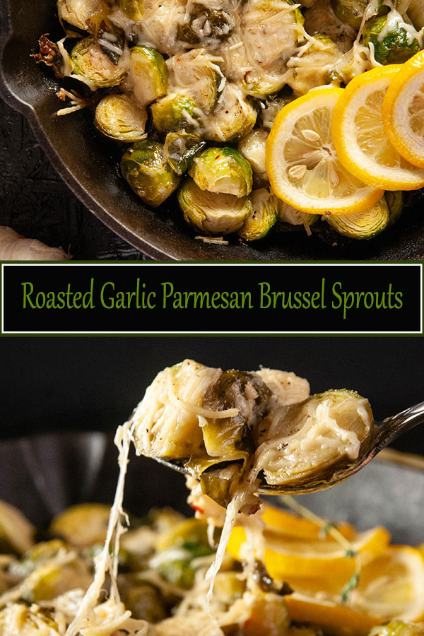 Roasted Garlic Parmesan Brussel Sprouts make the perfect holiday side dish or a lovely compliment to a roast chicken or beef any time of the year from www.SeasonedSprinkles.com