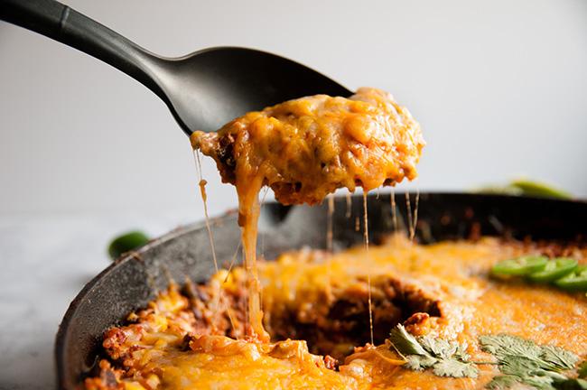 Beef and Quinoa Taco Skillet