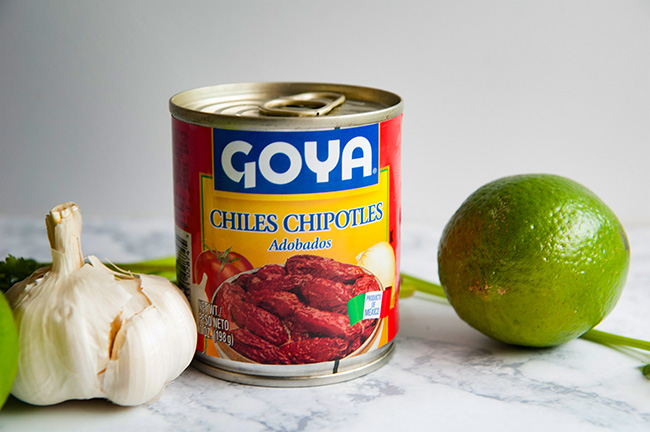 A can of chipotle peppers in adobo sauce