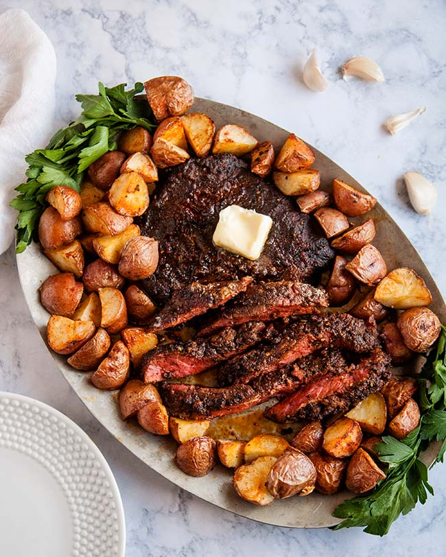 Roasted Southwestern Steak and Baby Potatoes