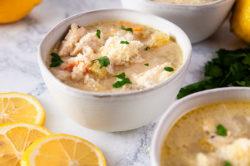 Parmesan Lemon Chicken Orzo Soup