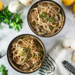 Caramelized Onion and Roasted Asparagus Pasta