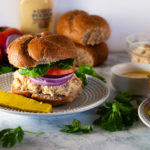 Honey Mustard Chicken Salad sandwiches