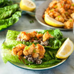 Buffalo Cauliflower and Quinoa Lettuce Wraps