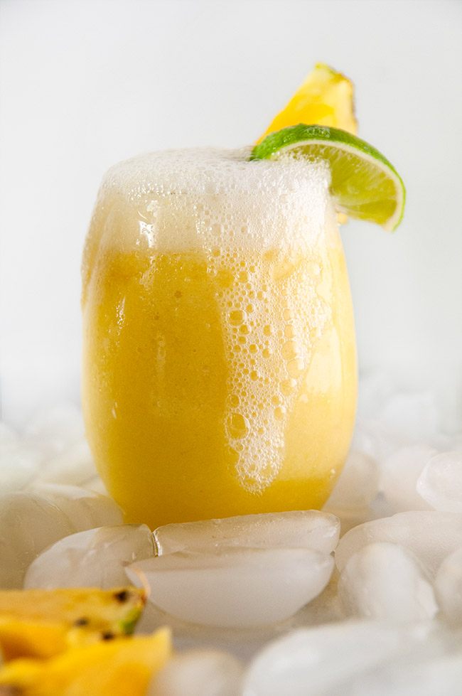 Frozen Pineapple Mimosas