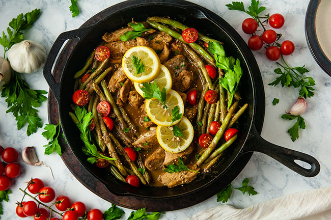 Honey Mustard Chicken and Green Bean Skillet