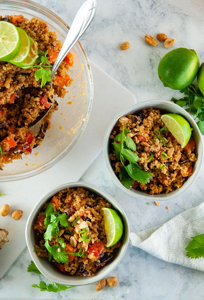 Thai peanut quinoa salad