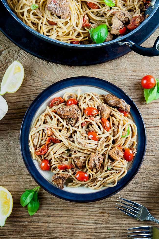 Balsamic Tomato Chicken Pasta