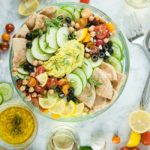 Lemony Loaded Greek Salad with Hummus
